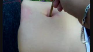 S03 navel pierced belly punch hot wax and oil on navel torturing sexy FULL