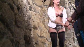 Secretary gets a creampie in boss's dungeon